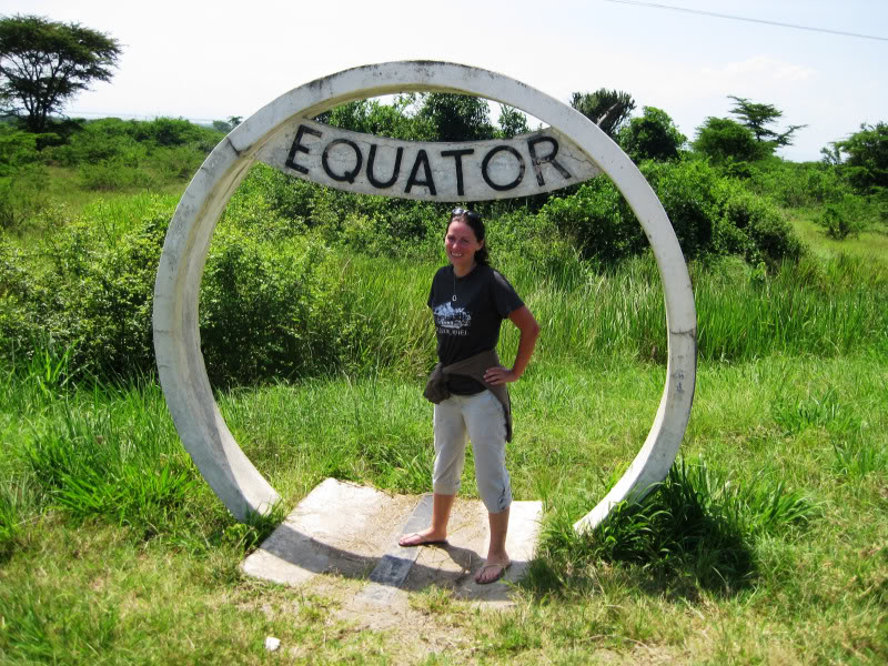 Standing on the Equator!