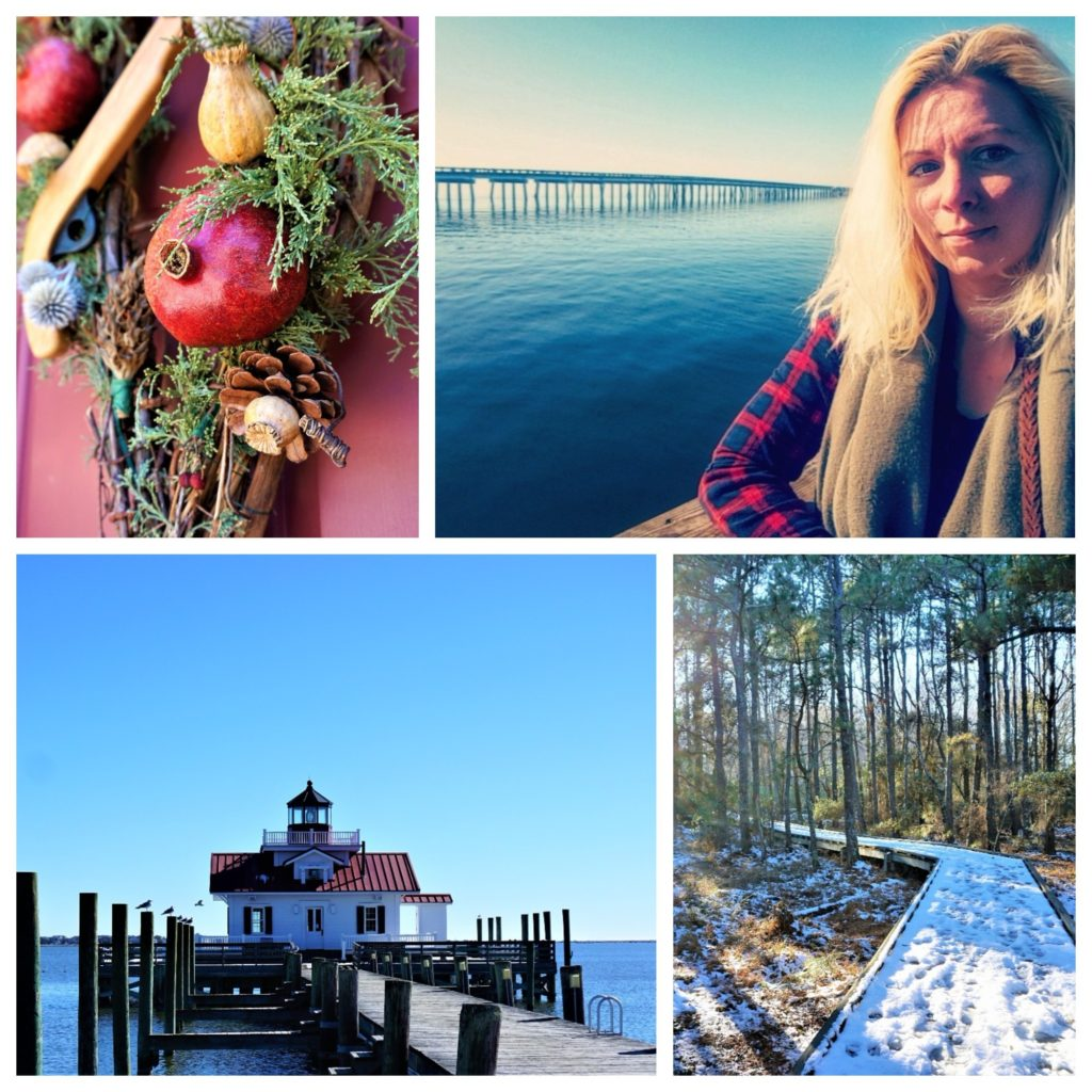 Collage of Colonial Williamsburg and Outer Banks photos
