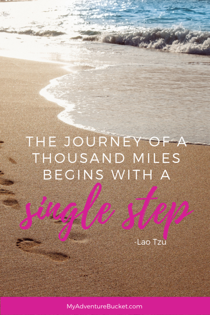 The journey of a thousand miles begins with a single step. - Lao Tzu