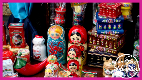 Matryoshka Russian nesting dolls souvenirs travel checklist set